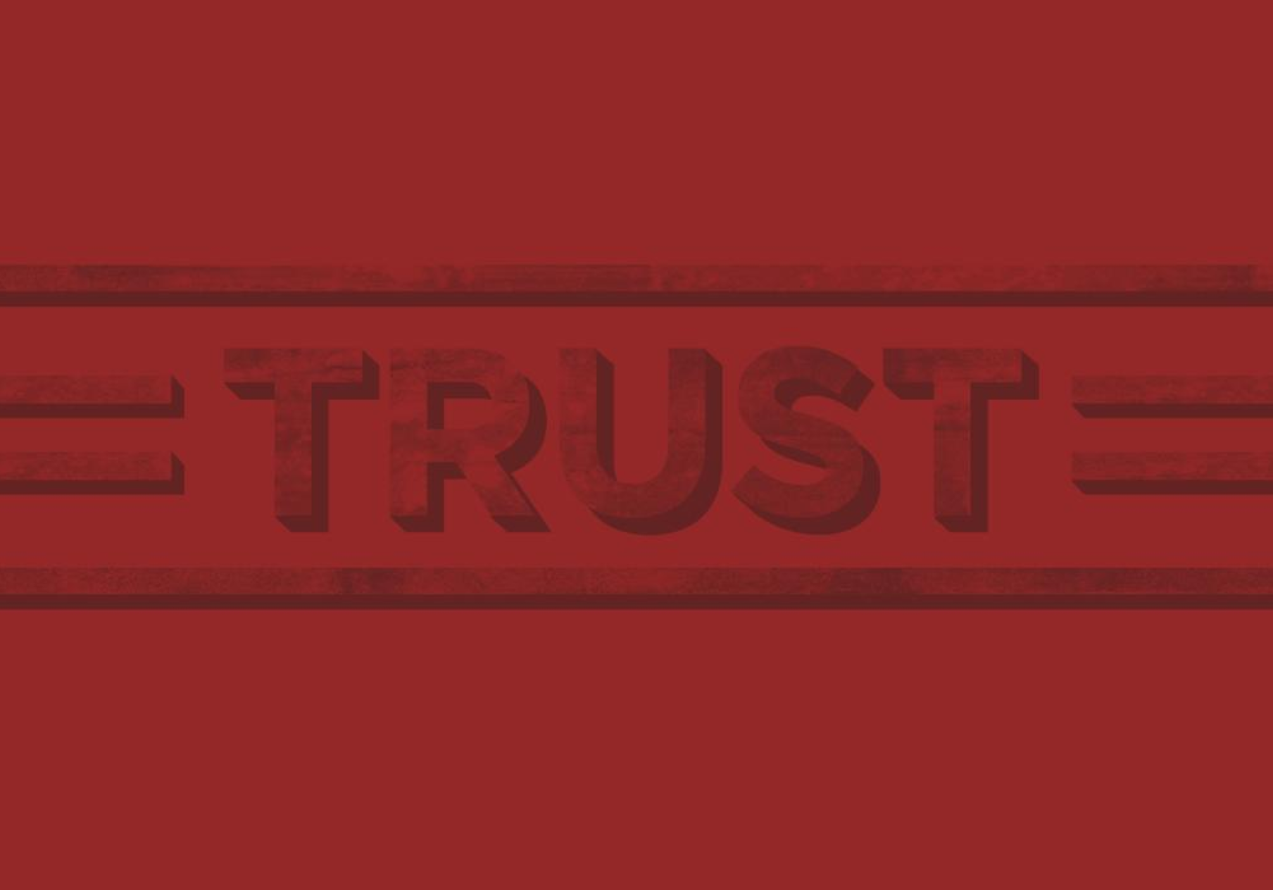 "Word ""Trust"" in Red"